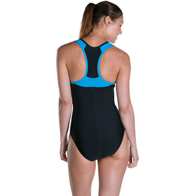 speedo Speedo Fit Pro Swimsuit Women Black/Winsdor Blue/White